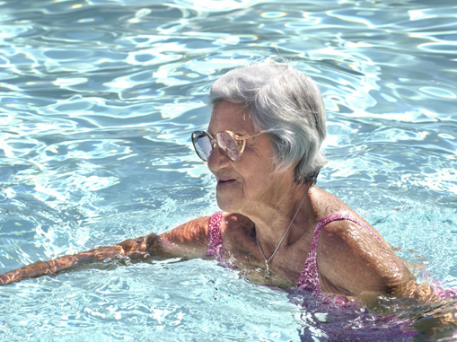 heated swimming pool at retirement home in the northern suburbs of cape town